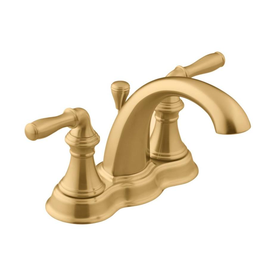 Bronze 2 Handle 4 In Centerset WaterSense Bathroom Sink Faucet Drain