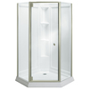 Sterling Solitaire White High-Impact Polystyrene Wall High-Impact Polystyrene Floor Neo-Angle 4-Piece Corner Shower Kit (Actual: 78.25-in x 42-in x 42-in)