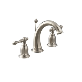 KOHLER Kelston Vibrant Brushed Nickel 2-Handle Widespread WaterSense Bathroom Sink Faucet (Drain Included)