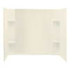 Sterling Accord 60-in W x 32-in D x 55-1/4-in H Biscuit Fiberglass Bathtub Wall Surround