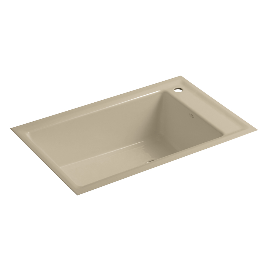 Kohler Undermount Kitchen Sinks : KOHLER Indio Single-Basin Undermount Enameled Cast Iron Kitchen Sink ...