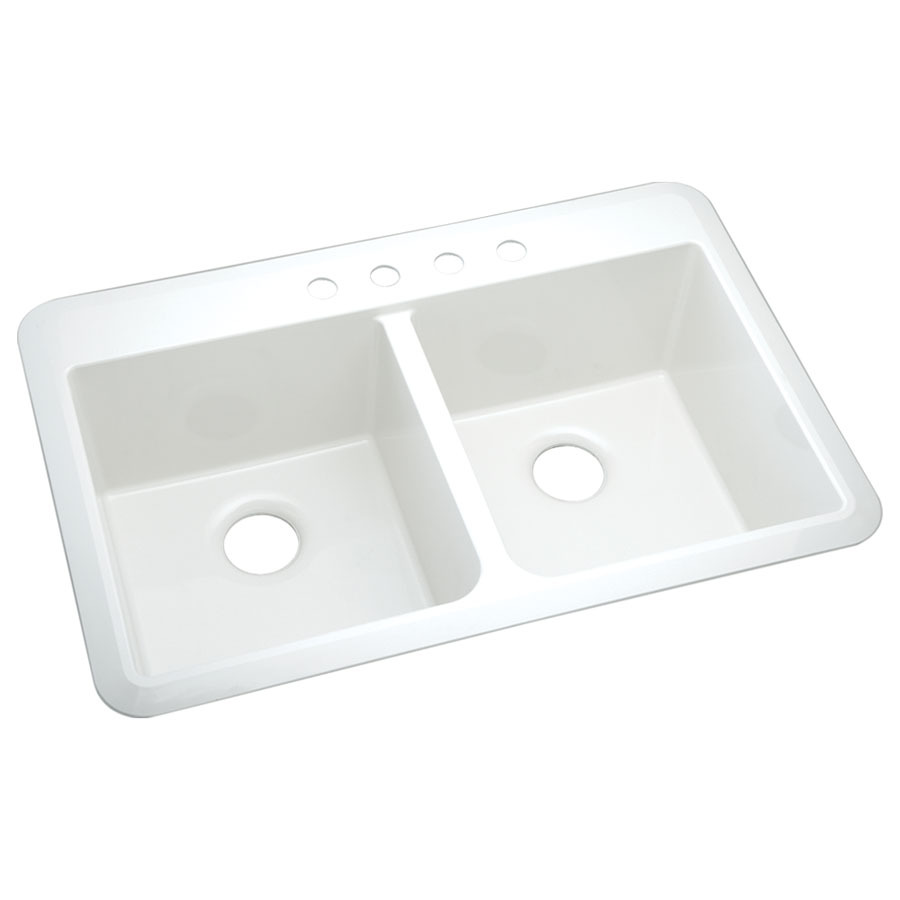 ... Composite Drop-In or Undermount 4-Hole Residential Kitchen Sink at