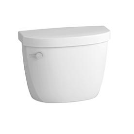 KOHLER Cimarron White 1.6-GPF (6.06-LPF) 12-in Rough-In Single-Flush Toilet Tank