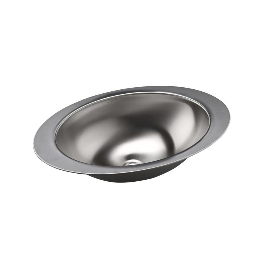 Shop KOHLER Rhythm Stainless Steel Undermount Oval Bathroom Sink at ...