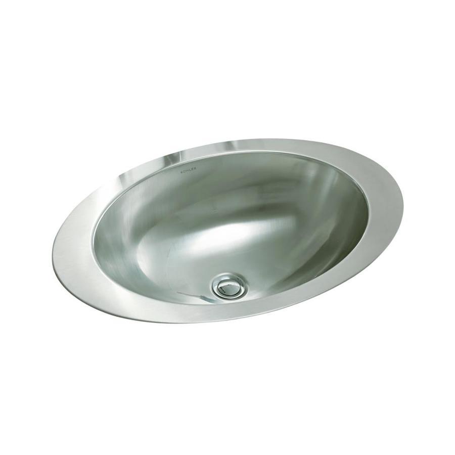 Shop Kohler Rhythm Stainless Steel Drop In Oval Bathroom Sink At