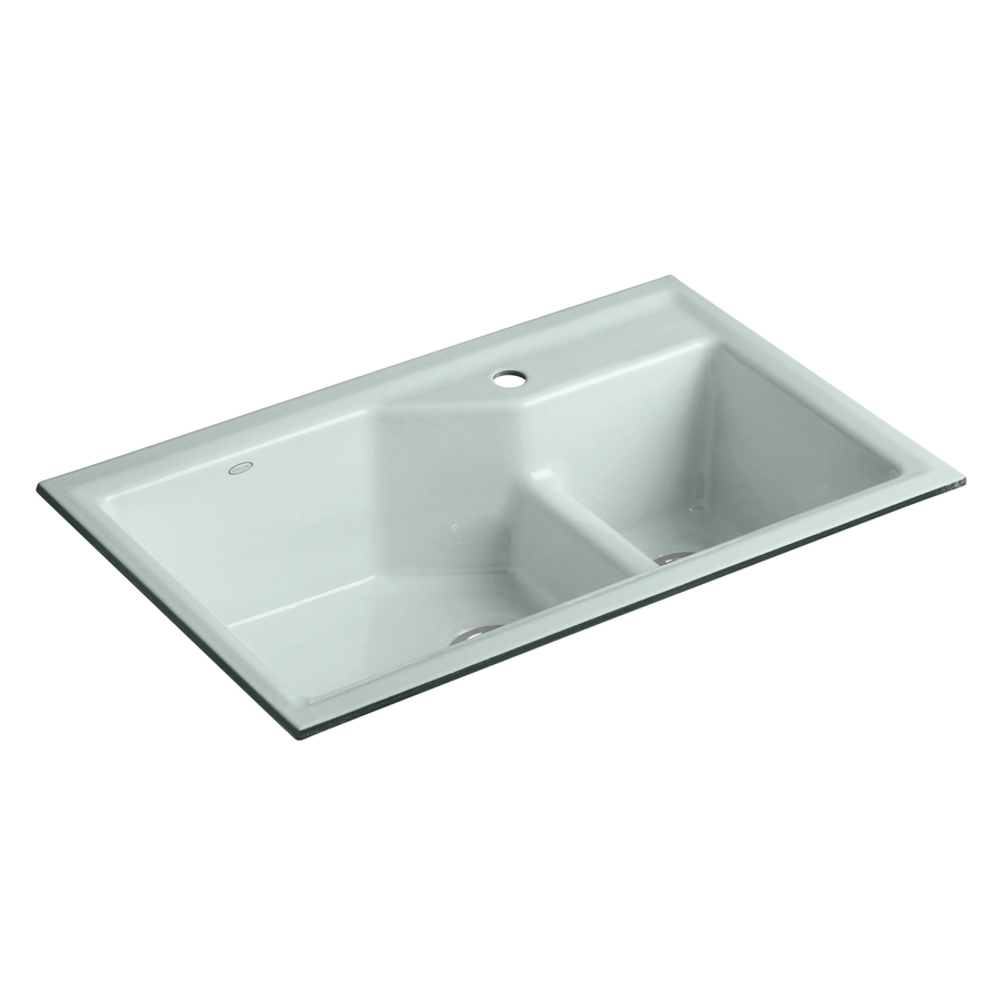 Shop Kohler Indio X 33 In Frost Double Basin