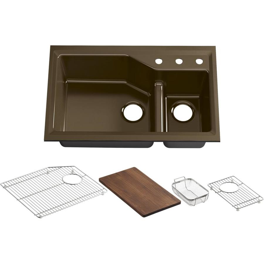 Kohler Undermount Kitchen Sinks : ... kohler indio double basin undermount enameled cast iron kitchen sink