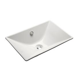 Shop KOHLER Reve White Cast Iron Topmount Bath Sink at Lowes.com