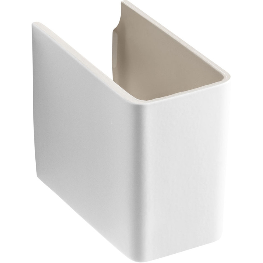 ... Reve 11-in H Honed White Fireclay Pedestal Sink Base at Lowes.com