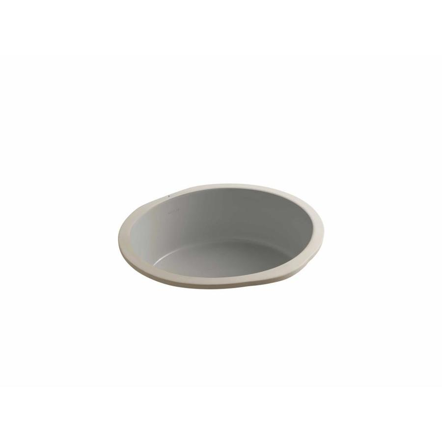 Shop KOHLER Verticyl Cashmere Undermount Round Bathroom Sink With Overflow At