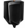 KOHLER 18-in W x 26.875-in H Black Wall-Mounted WaterSense Urinal