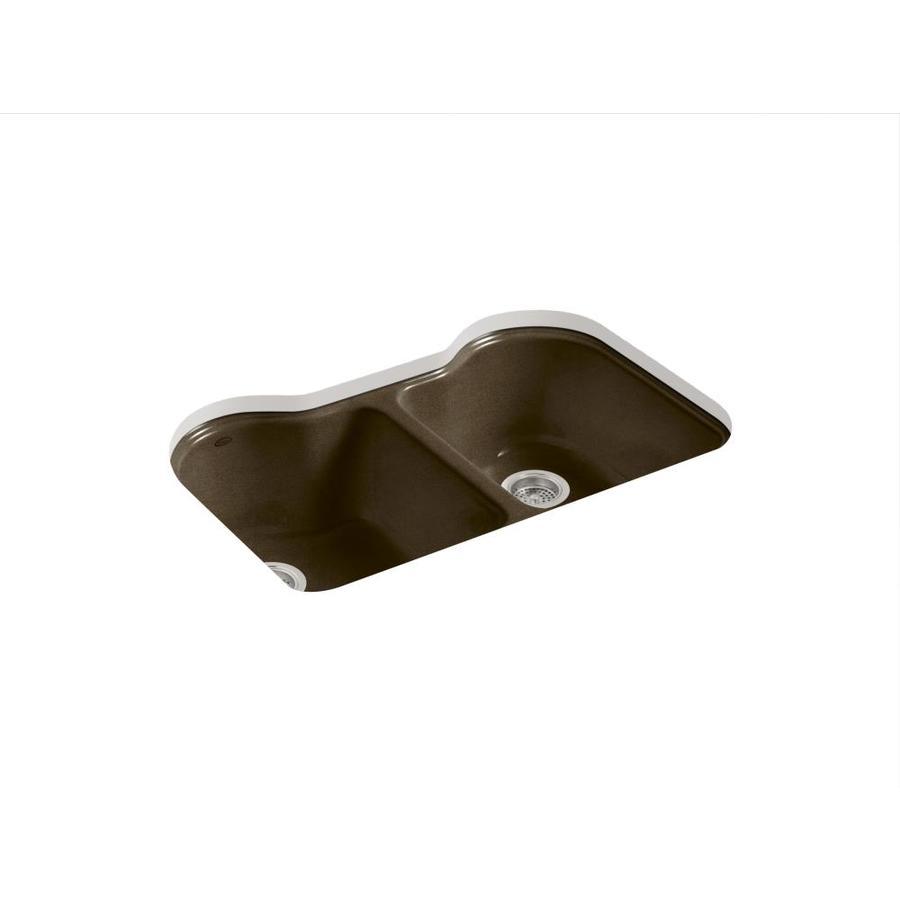 hartland double basin undermount enameled cast iron kitchen sink
