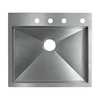 KOHLER Vault 18-Gauge Single-Basin Drop-In Stainless Steel Kitchen Sink