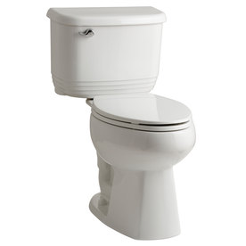 Sterling Riverton White 1.28-GPF 12-in Rough-in WaterSense Elongated Dual-Flush 2-Piece Comfort Height Toilet