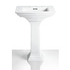KOHLER Memoirs 27.38-in H White Fireclay Pedestal Sink Base