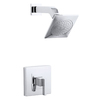 KOHLER Loure Polished Chrome 1-Handle Shower Faucet Trim Kit with Single Function Showerhead