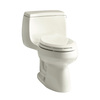 KOHLER Gabrielle Biscuit 1.28-GPF (4.85-LPF) 12 Rough-In WaterSense Elongated 1-Piece Comfort Height Rear Outlet Toilet