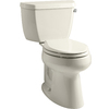 KOHLER Highline Almond 1.28 GPF High Efficiency WaterSense Elongated 2-Piece Toilet
