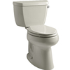 KOHLER Highline Sandbar 1.28 GPF High Efficiency WaterSense Elongated 2-Piece Toilet