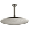 KOHLER Traditional 12-in 2.5-GPM (9.5-LPM) Vibrant Brushed Nickel Rain Showerhead