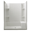 Sterling 36-in W x 60-in L x 55-1/4-in H White Shower Wall Surround Side and Back Panel