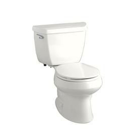 KOHLER Wellworth Classic White 1.28 GPF High Efficiency WaterSense Round 2-Piece Toilet