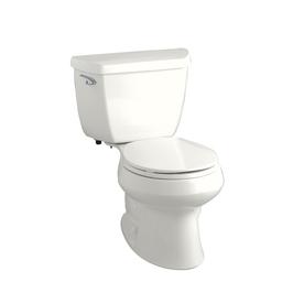 KOHLER Wellworth Classic White 1.28 GPF WaterSense Round 2-Piece Toilet