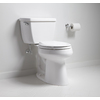KOHLER Highline Classic White 1.28-GPF (4.85-LPF) 12-in Rough-in WaterSense Elongated 2-Piece Comfort Height Toilet