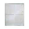 Sterling Finesse 54.625-in to 59.625-in W x 70.3125-in H Silver Sliding Shower Door