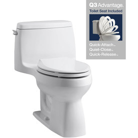 KOHLER Santa Rosa White 1.28 GPF High Efficiency WaterSense Elongated 1-Piece Toilet