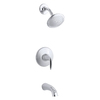 KOHLER Alteo Polished Chrome 1-Handle Bathtub and Shower Faucet Trim Kit with Single Function Showerhead