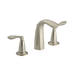 KOHLER Cavata Brushed Nickel 2-Handle Widespread WaterSense Bathroom Faucet (Drain Included)