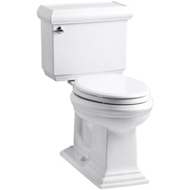 KOHLER Memoirs White 1.28-GPF (4.85-LPF) 12-in Rough-In WaterSense Elongated 2-Piece Comfort Height Toilet