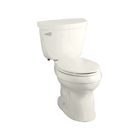 KOHLER Cimarron Biscuit 1.28 GPF High Efficiency WaterSense Elongated 2-Piece Toilet