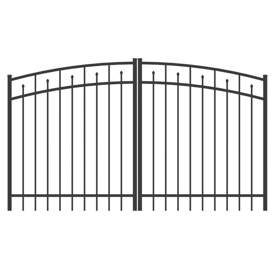 Shop Ironcraft Black Powder Coated Aluminum Fence Gate