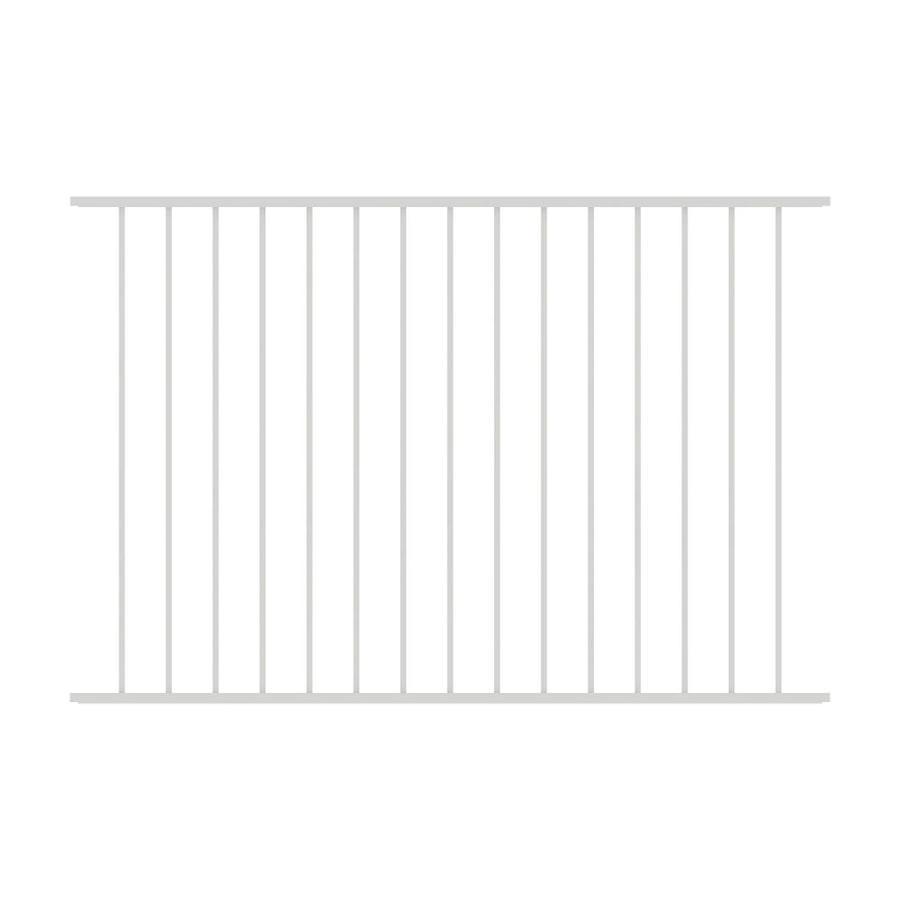 Shop Ironcraft White Powder Coated Aluminum Fence Panel