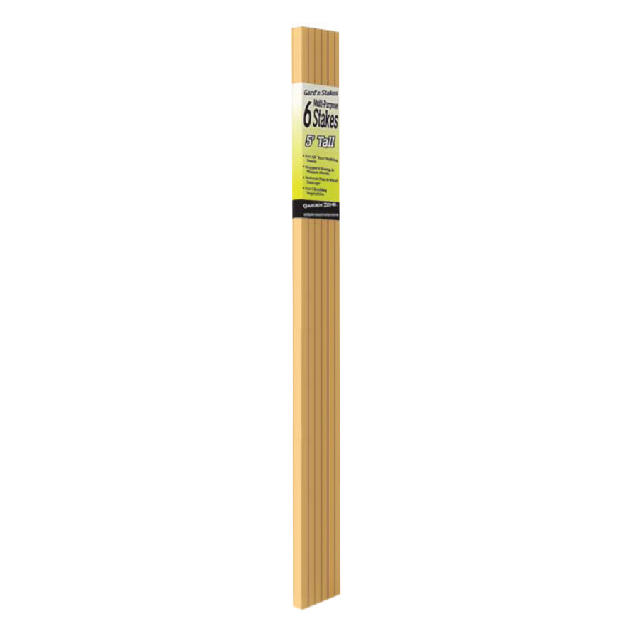 shop 6 pack 60 in wood landscape stakes at
