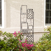 22-in W x 81.5-in H Powder-Coated Leaf Motif Garden Trellis