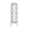 12-in W x 48-in H Powder-Coated Stained Glass Garden Trellis