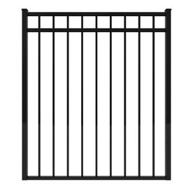 Ironcraft 4-ft 4-in x 3-ft 8-in Black/Powder-Coated Aluminum Fence Gate