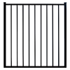 Ironcraft Black/Powder-Coated Metal Decorative Fence Gate