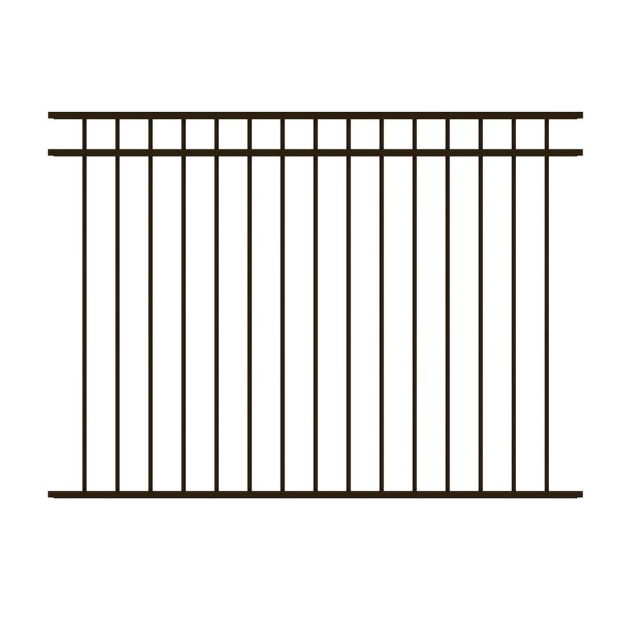 Shop Ironcraft Black Powder Coated Aluminum Fence Panel