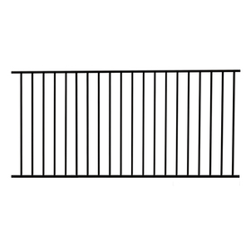 Garden Zone Powder-Coated Steel Decorative Metal Fence Panel