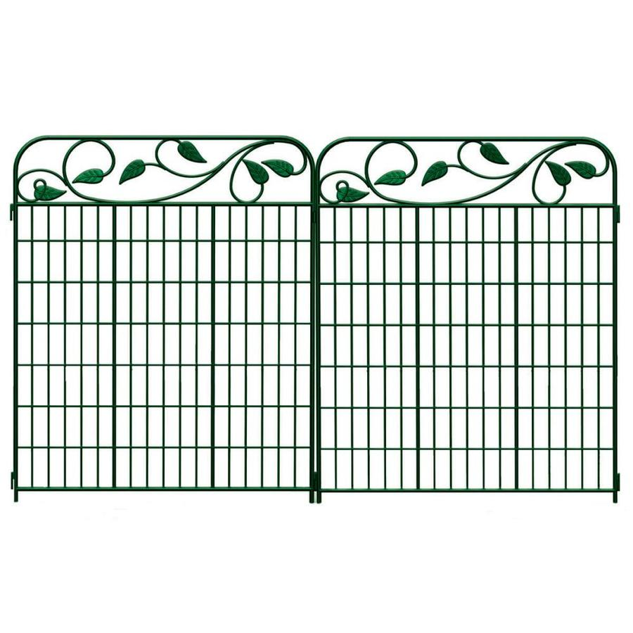 shop no dig green steel fence panel common 44 in x 36 in actual 44