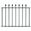 No Dig 28-in x 38-in Black Powder-Coated Steel Fence Panel
