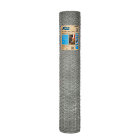 Blue Hawk 36-in x 150-ft Silver Steel Poultry Netting