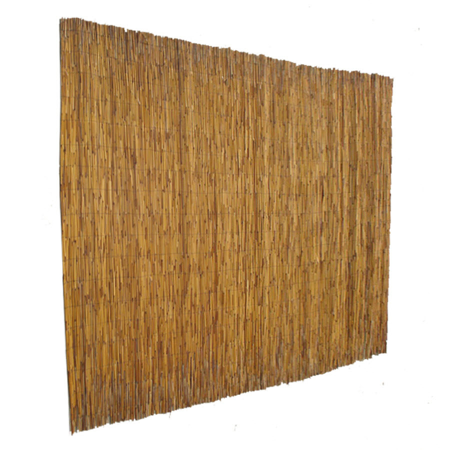 garden zone 72 in x 15 ft natural reed outdoor privacy screen at lowes