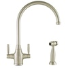 Mico Designs Churchill 2-Handle High-Arc Kitchen Faucet with Side Spray