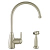 Mico Designs Churchill 1-Handle High-Arc Kitchen Faucet with Side Spray