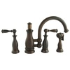 Mico Designs Seashore 2-Handle High-Arc Kitchen Faucet with Side Spray